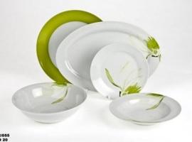 Vintage Home Collection - Servizio piatti verde e bianco