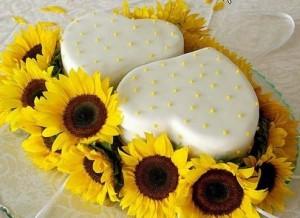 Torte Matrimonio Girasoli : I girasoli per un matrimonio destate solare ed allegro